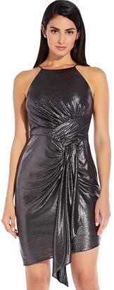Adrianna Papell Metallic Jersey Dress