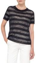 Akris Punto Stripe Knit Top