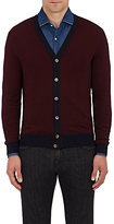 Isaia MEN'S VIRGIN WOOL-BLEND CARDIGAN
