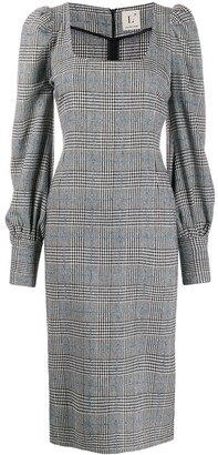 L'Autre Chose checked fitted dress