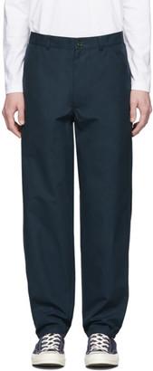 Comme des Garçons Shirt Navy Workstitch Trousers