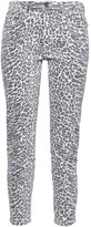 Thumbnail for your product : Current/Elliott The Stiletto Leopard-print Mid-rise Skinny Jeans