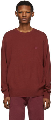 Acne Studios Red Face Sweater