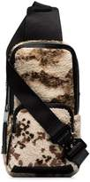 1017 Alyx 9SM beige and brown camo leather backpack
