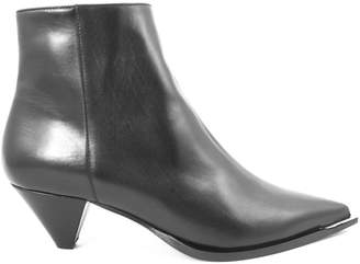 Aldo Castagna Desi Ankle Boot In Black Leather