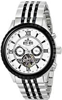 Burgmeister Denver Men's Automatic Watch with White Dial Analogue Display and Two Tone Stainless Steel Bracelet BM327-187