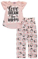 "Sweet N Sassy Little Girls' ""Be Happy"" 2-Piece Pajamas"