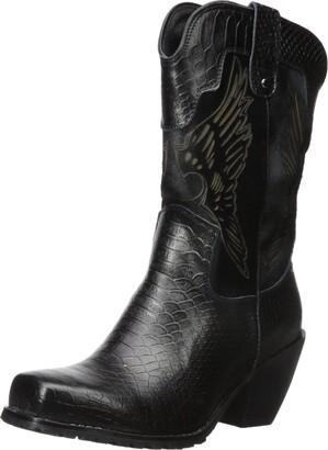 "Ride Tec Women's 8547 11"" Laser Eagle Boot Black Work 8 M US"