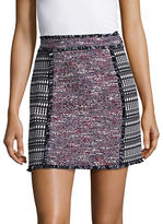 French Connection Mix-Pattened Tweed Mini Skirt