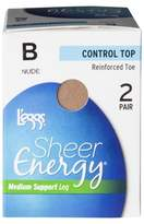 L'eggs® Women's 2-Pack Sheer Energy Control Top Pantyhose