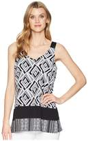 Tribal Printed Sleeveless Blouse Women's Blouse