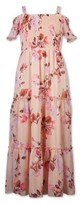 Lots of Love By Speechless Speechless Girls 7-16 Smocked Spring Floral Maxi Dress