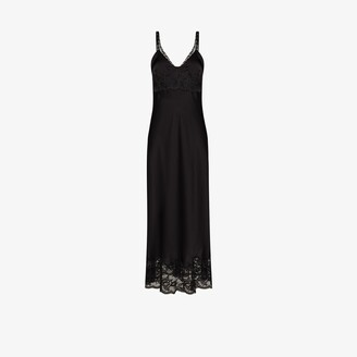 Paco Rabanne Lace Trim Slip Dress