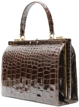 Adored Vintage Brown Crocodile Handbags