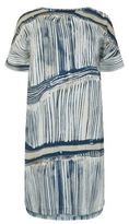 Marina Rinaldi Striped Silk Tunic Dress