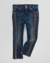 7 For All Mankind Spring Night Straight-Leg Jeans, Sizes 8-10