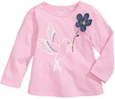 First Impressions Bird-Print Cotton T-Shirt, Baby Girls (0-24 months), Created for Macy's