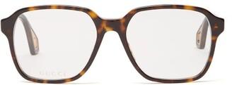 Gucci Tortoiseshell Square-frame Acetate Glasses - Womens - Tortoiseshell