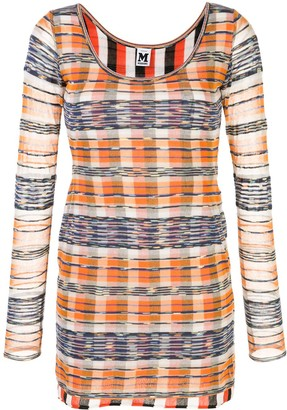 M Missoni Check Print Bodycon Dress