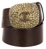 Just Cavalli Buckle Leather Belt
