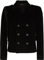 Amiri Rope-Trimmed Wool And Cashmere-Blend Peacoat