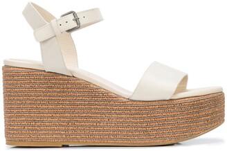 Brunello Cucinelli Open Toe Platform Sandals