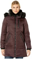 Vince Camuto Faux Fur Collar Down Coat (Port Royale) Women's Clothing