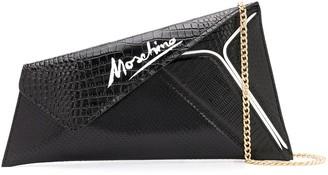 Moschino Slice maxi clutch