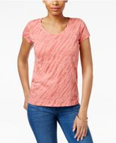 Style&Co. Style & Co Petite Printed T-Shirt, Only at Macy's