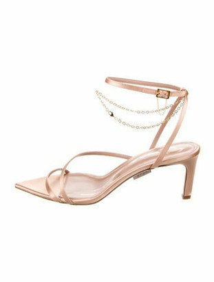 Oscar de la Renta 2020 Chain-Link Accents Sandals
