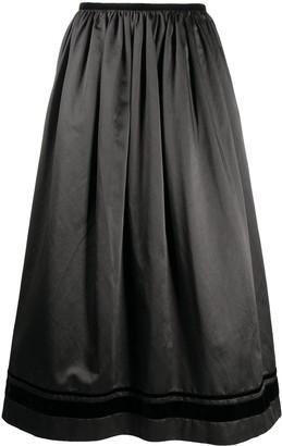 UMA WANG A-line flared skirt