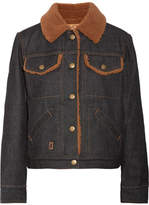 Marc Jacobs Faux Shearling-lined Denim Jacket - Dark denim