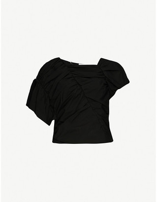 AKIRA NAKA Roo Decon asymmetric cotton top