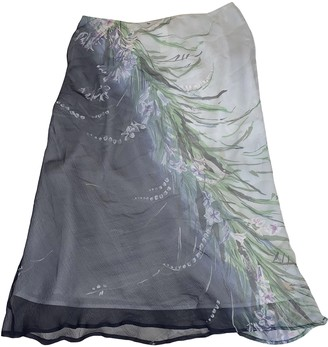 La Perla Blue Silk Skirt for Women