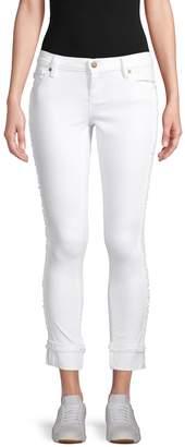 Karl Lagerfeld Paris Fringe Cropped Jeans