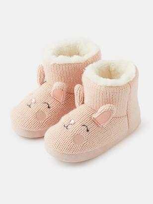 Accessorize Girls Bella Bunny Slipper Boots
