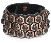 Giles & Brother Woven Leather Hexagon Bracelet