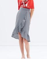 Miss Selfridge Gingham Frill Midi Skirt