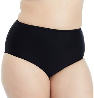 Plus Size Island Soul Curve Strappy Back High-Waisted Bikini Bottoms