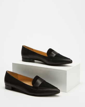 Atmos & Here Atmos&Here - Women's Black Brogues & Loafers - Cara Loafers - Size 5 at The Iconic