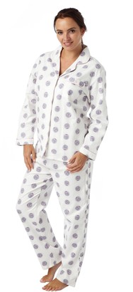 I Smalls i-Smalls Women's Winceyette Warm Winter Owl Pyjamas (Cream) 18-20