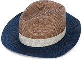 Paul Smith contrast panels hat - men - Straw - S