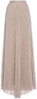 Alexis Teresa Pleated Sequin Maxi Skirt