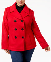 Celebrity Pink Juniors' Plus Size Double-Breasted Peacoat
