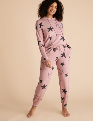 Marks and Spencer Cosy Star Print Lounge Cuff Jogger