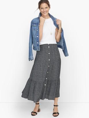 Talbots Falling Lines Midi Skirt