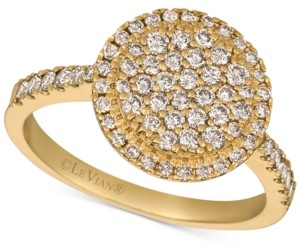 LeVian Le Vian Creme Brulee Nude Diamond Halo Cluster Statement Ring (3/4 ct. t.w.) in 14k Gold