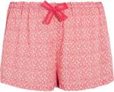 Calvin Klein Underwear Printed Voile Pajama Shorts - Blush