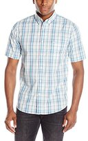 Dockers Short Sleeve Fashion No Wrinkle Plaid Button Down Collar Shirt