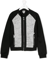 Karl Lagerfeld Bouclé bomber jacket